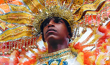 Cuban costume at Santiago Carnival.